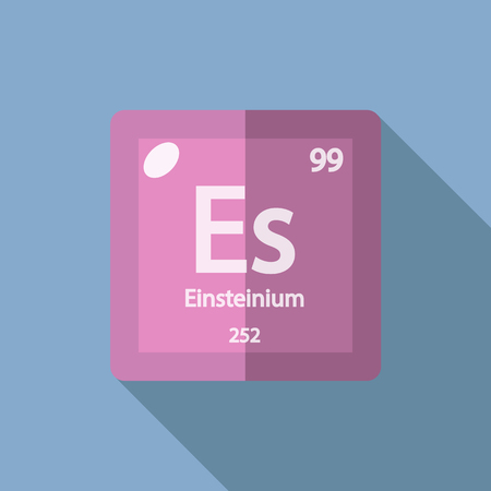 serial: Chemical element Einsteinium. Flat design style modern vector illustration. Isolated on background. Elements in flat design.