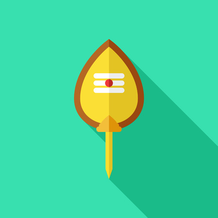Spear symbol holiday Thaipusam. Vector flat illustration. color