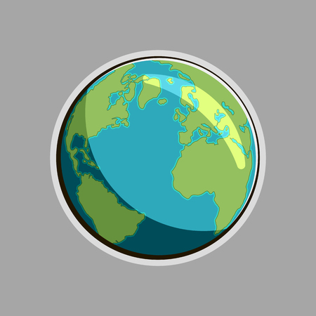 flat earth: earth illustration. Globe icon. flat design