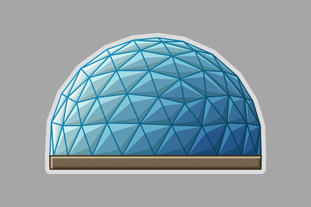 Icon geodesic dome. Illustration