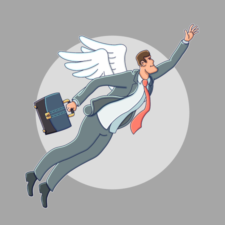 business: Business angel. Business illustration.