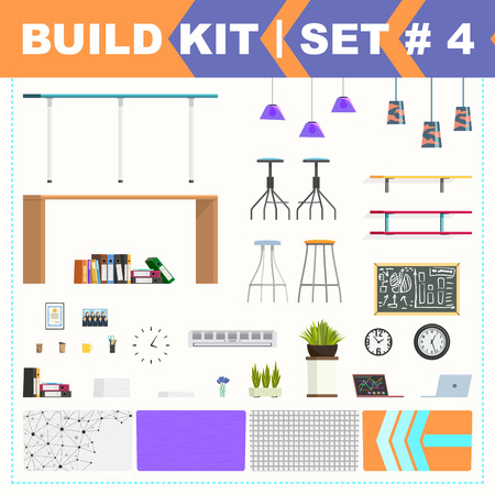 barstool: Some office furniture and backgrounds. Build kit.