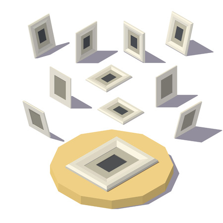 Isometric lowpoly Picture Frame
