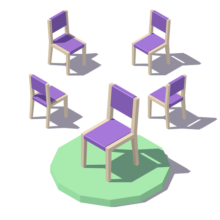 Vector low poly Chair