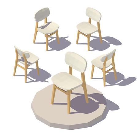 Vector isometric Designer Chair Illustration