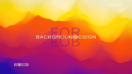 Landscape with mountains. Abstract background. Vector illustration for design.