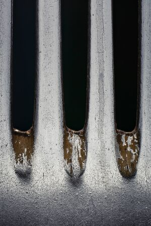 Fork close up. Isolated image on a black background. 版權商用圖片