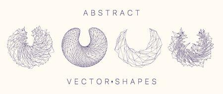 Geometric shape for design. 3d technology style.