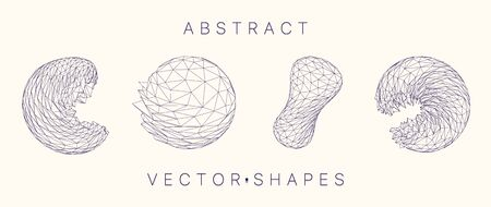 Geometric shape for design. 3d technology style. Stock Vector - 149802282