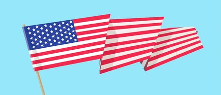 The flag of the United States of America. Vector flat illustration