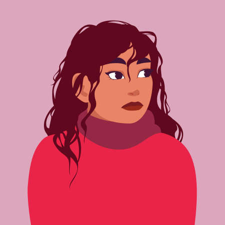 Portrait of a girl in a thick sweater