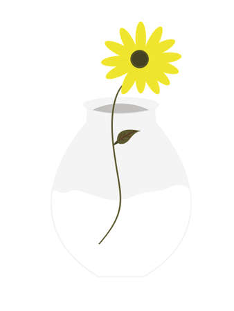 flowers in vase: vase and flowers illustration