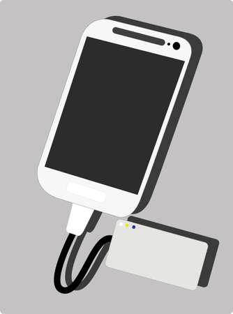 potency: smartphone and powerbank Illustration