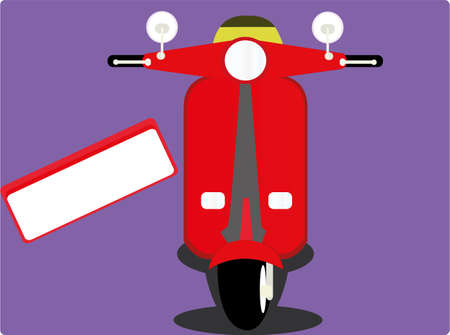 sash: the red scooter Illustration