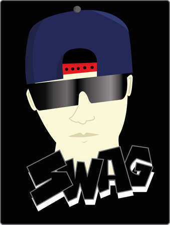 cool guy: the cool swag Illustration