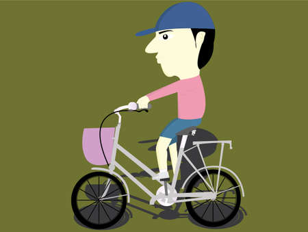 breeches: the child riding a bike Illustration