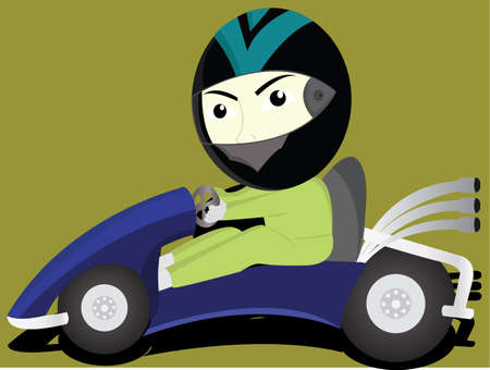 activate: the funny gokart Illustration
