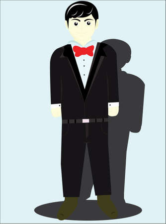 pantaloon: the man with a neat suit and a bow tie