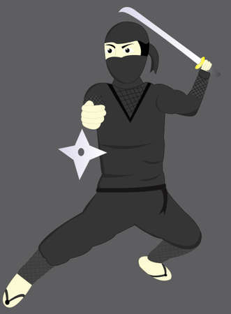 hassle: the ninja with a sword and shuriken