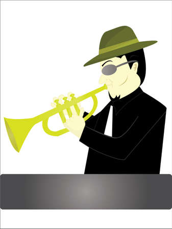 the man and trumpet