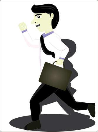 holdall: the employees ran Illustration