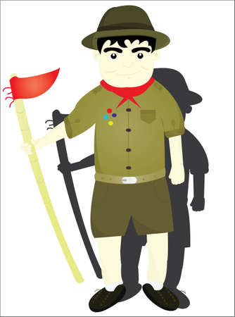 black hair blue eyes: the boy scout