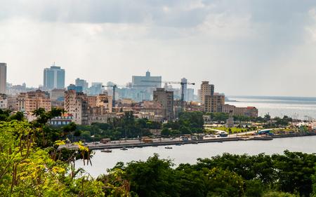 Havana Bay surroundings, seen in the morning time