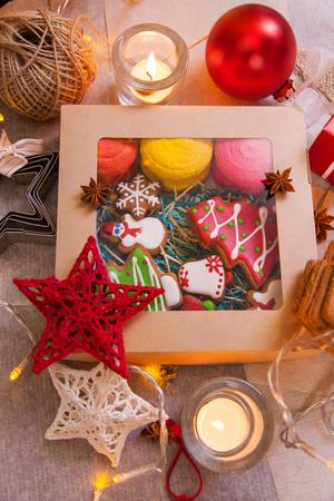 box of christmas cookies handmade christmas tree decorations