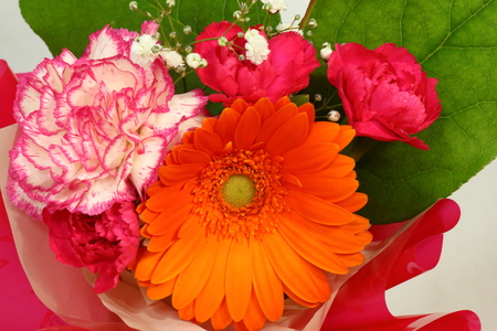 Arrangement of flowers.