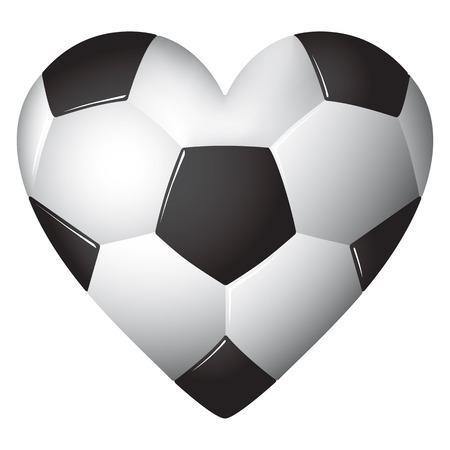 Heart shaped football - soccer - ball illustration.