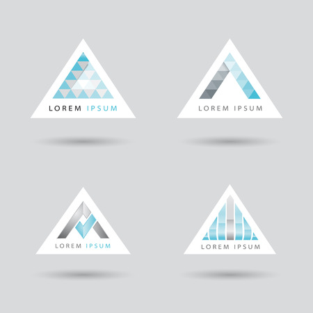 buoyancy: Set of icon with an arrow or triangle shaped