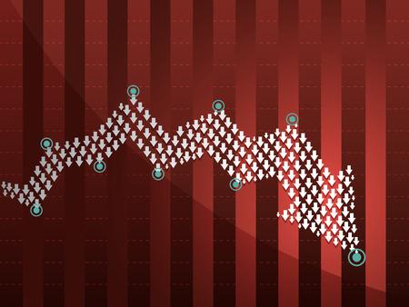 infographics design with organic arrow concept