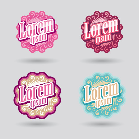ornamental design vector for beauty and cosmetic services Vector