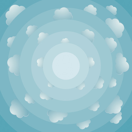 oxigen: Fish eye view about cloudy bright sky