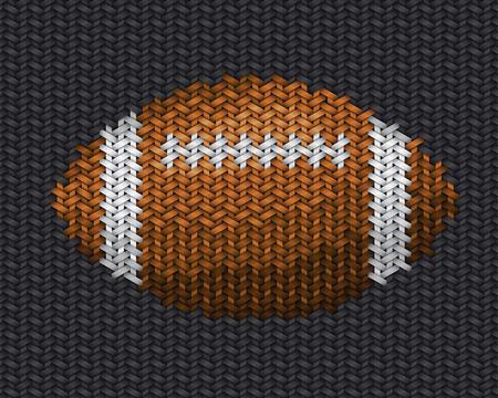 trabajo manual: americana trabajo hecho a mano pelota de f�tbol bordado en tela