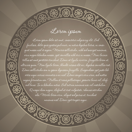 discrete: floral background with folk art design inspiration for greeting card invitation or announcement