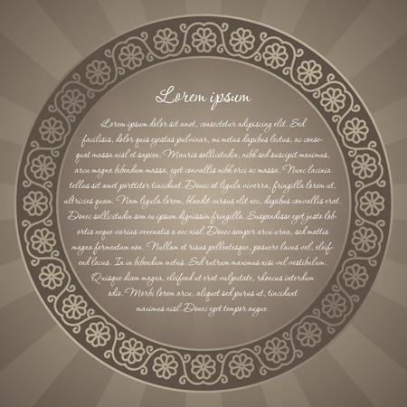 tarjeta de invitacion: Fondo floral con arte popular inspiraci�n del dise�o para la invitaci�n de la tarjeta de felicitaci�n o un anuncio