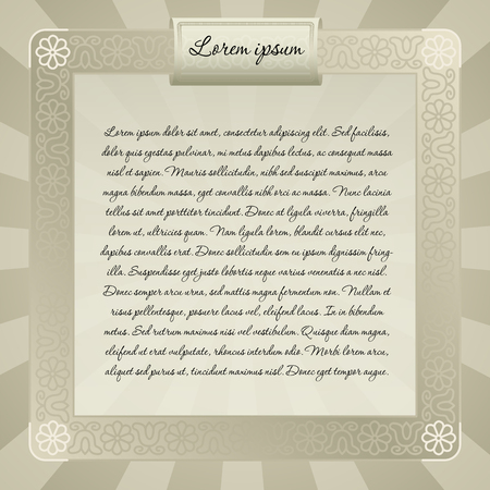 discrete: floral background design with folk art inspiration for invitation greeting card or announcement