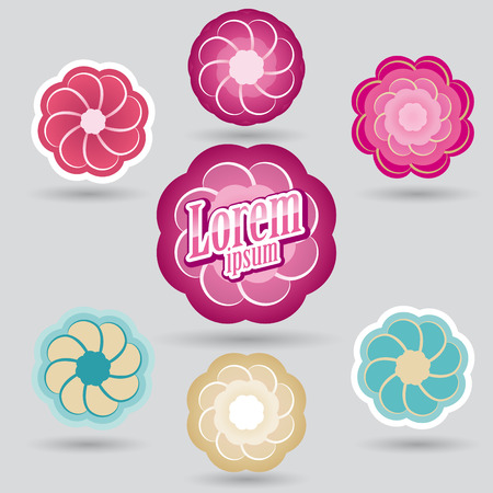 ornamental vector design for beauty and cosmetic services or confectionery, bakery