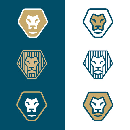 Stylized lion head for logo or branding