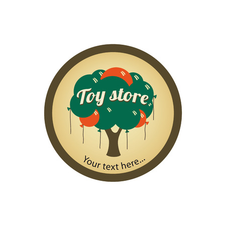 toy store or gift shop logo with balloons