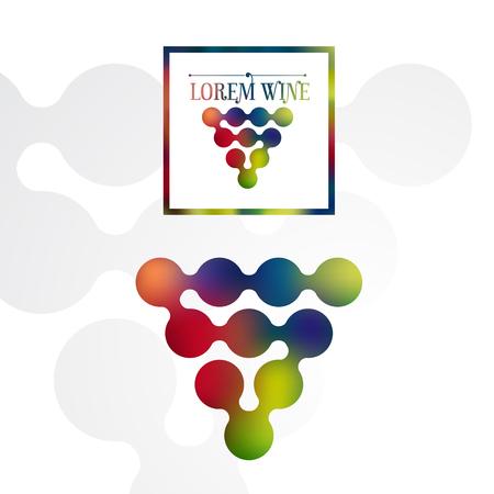 modern wine label with multicolored logo design