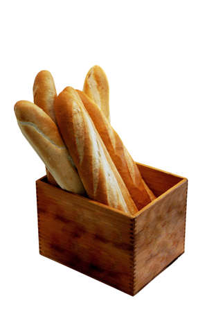 Bread in the wooden box photo