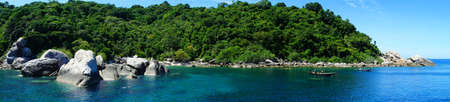 Panorama view at Koh Nangyuan island, Southern of Thailand  Stock Photo - 10505522