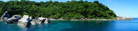 Panorama view at Koh Nangyuan island, Southern of Thailand Stock Photo - 10505522