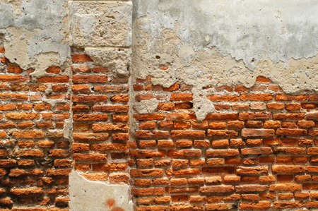 Broken surface wall with brick inside Stock Photo - 14461569