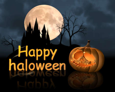 spooky graveyard:  happy haloween