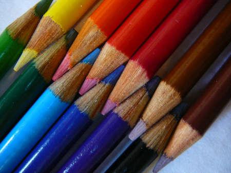 Colored pencils. Banco de Imagens