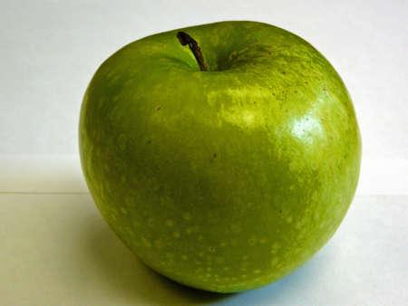 granny smith: Granny Smith apple on a white background. Stock Photo