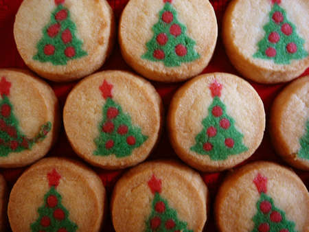 Christmas Tree Cookie Background photo